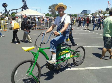 The Chipper Chopper sports its new paint job at Maker Faire 2013