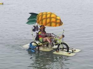 water shot pineapple trike
